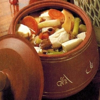 Chinese Hotpot of Vegetables and Bean Curd Dinner