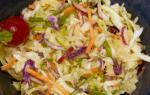 American Asian Coleslaw With Misoginger Dressing Appetizer