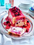 American Summer Pudding with White Chocolate and Cherry Icecream Appetizer