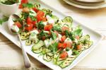 American Grilled Zucchini With Caprese Salad And Rocket Salsa Recipe Appetizer