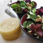 Canadian Field Salad with Beetroot Spinach and Walnuts Appetizer
