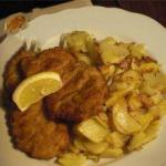 Canadian Wiener Schnitzel with Garnish Appetizer