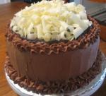 American Old Fashioned Sour Cream Fudge Cake Dessert