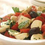 American Insalata Caprese with Olives Appetizer