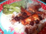 American Sweet and Sour Cranberry Chicken Dinner