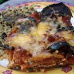 American Gratinated Aubergine with Tomato and Cheese Appetizer