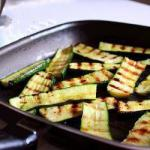 American Grilled Zucchini and Parsley Sauce and Balsamic Vinegar Appetizer