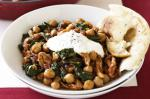Indian Indian Chicken Curry With Chickpeas And Spinach Recipe Appetizer