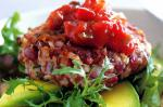 Canadian Bean Burgers With Avocado And Salsa Recipe Appetizer