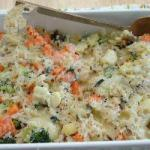 American Oven Dish of Cooked Rice and Vegetables Appetizer
