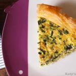 American Salted Pie with Salmon and Spinach Appetizer