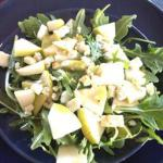 American Arugula and Pear Salad with Maple Vinaigrette Appetizer