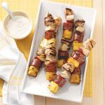 American Sausage and Chicken Kabobs Appetizer