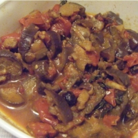 Indian Eggplants and Tomatoes Appetizer