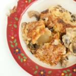 Australian Chicken with Mushrooms Baked in the Oven Appetizer