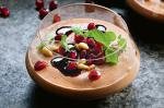 British Choc Mousse With Pine Nuts and Pomegranate Recipe Dessert
