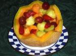 Australian Fruit Salad in a Cantaloupe Basket Dessert