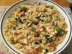 American Quick Greek Spinach and Chicken Orzo Dinner