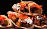 American Falafel Sandwich with Peppers Onion and Eggplant Recipe Appetizer