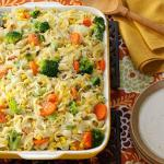 American Vegetable Noodle Casserole Appetizer