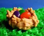 American Easter Nests With Jelly Bean Eggs Dessert