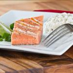 British Grilled Salmon Steaks with Lime Butter BBQ Grill