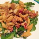 American Pasta Salad with Red Pesto and Goat Cheese Dinner