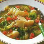 Italian Summer Minestrone Soup Appetizer