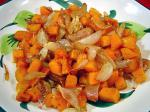 American Roasted Butternut Squash and Shallots Appetizer