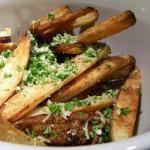 French French Fries in the Oven with Parmesan Cheese and Basil Appetizer