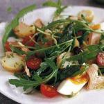French Salad Nicoise with Smoked Trout Appetizer