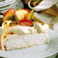 Polish Fresh Fruit Pavlova Dessert