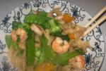 American Noodles and Stir Fried Shrimp Medley Dinner