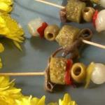 Spanish Banderillas small Brochettes with the Spanish Dinner