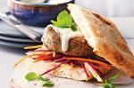 Canadian Walnut Falafel Burger With Beetroot And Apple Slaw Recipe Appetizer