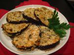 American Oven Fried Eggplant aubergine Appetizer