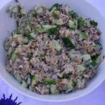 American Wild Rice Salad with Cucumber Appetizer