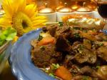 French Boeuf En Daube  Classic French Beef Burgundy Stew bourguignon Dinner