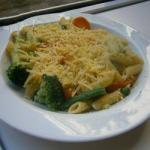 American Pasta Primavera with Vegetables and Herb Butter Appetizer