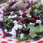 American Salad with Beetroot Goat Cheese and Pistachios Dessert
