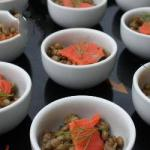 American Verrine Recipes of Lentils in the Smoked Salmon Dinner