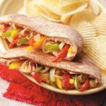 Italian Sweet Pepper Pitas Appetizer