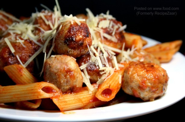 American Chicken Meatballs For Spaghetti and Meatballs Dinner