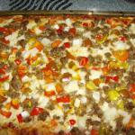 Italian Chicago Style Italian Sausage and Pepper Deep Dish Pizza Dinner