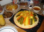 Moroccan Ramadan Couscous With Meat and Veggies recipe