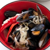 Swiss Mussels with Leeks and Chilli Dinner