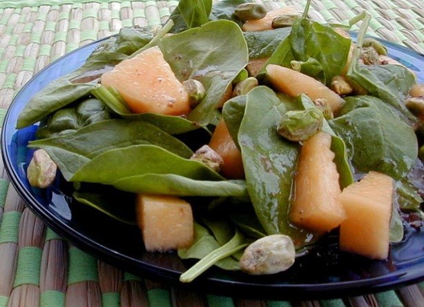 American Cantaloupe Spinach Salad Appetizer