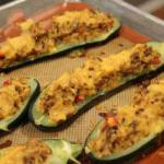 American Zucchinis Stuffed with Minced Meat Appetizer