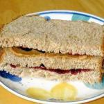 American Peanut Butter Jelly Sandwich bread with Peanut Butter and Jam Dessert