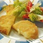 American Breadcrumbed Cheese Slices Appetizer